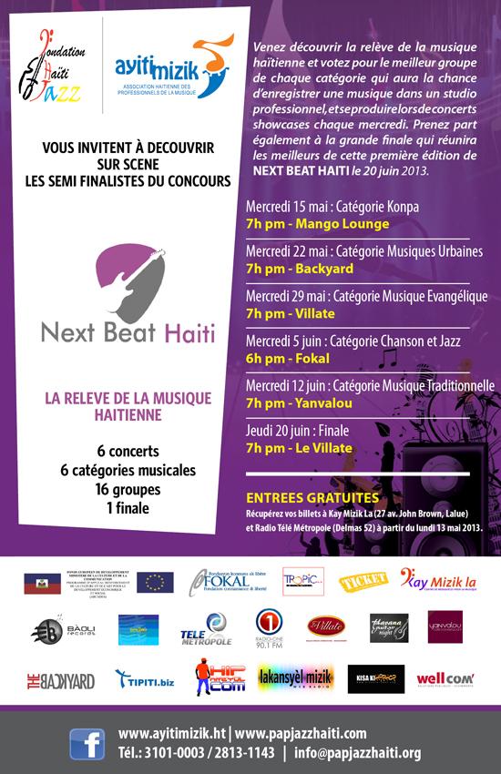 Next Beat Haiti flyer